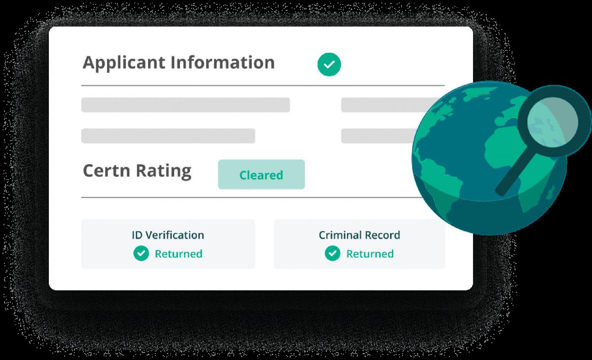 Criminal background check global applicant information