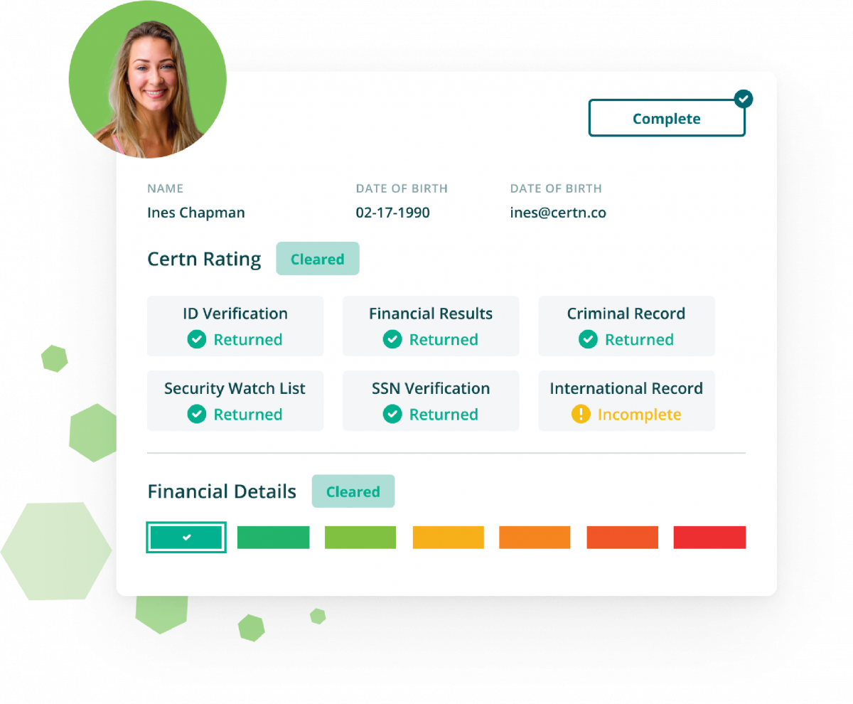 Certn Lime Background Check Sample Report